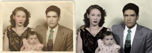 Photo Restoration of Family in 1954 by Sgtconker1r