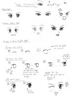 Drawing Tutorial: Anime Eyes by gloomknight