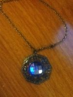 My Blue Jewel Necklace by WinterMoon95