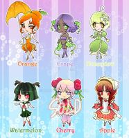 Adoptable [Open] Fruit Chibis-price changed by Ruri-dere