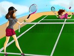 May vs Hilda - Tennis Match! by Heartspowl