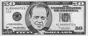 Steve Buscemi On A Fifty by AndPlusAmpersandAlso
