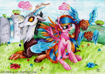 Commission - Flying muffins~ by Julunis14
