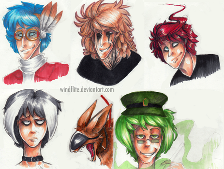 Copic busts by WindFlite