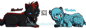 Mordecai and Chester - Chibi by ChibiCorporation