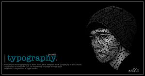 Potrait Typography by adhii-scapegrace