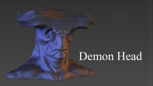 Demon bust by daver100