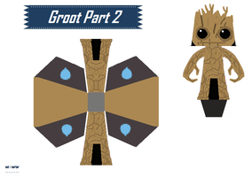 Papercraft Groot part 2 by anikenny