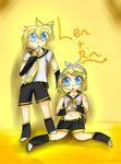 Len and Rin (contest entry) by Amulet-Kitty