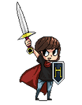 some pixel art for my cousin~ by Dedalocious