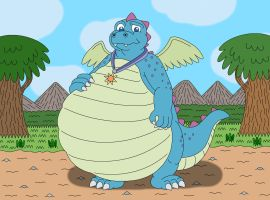 Ord the young chubby Dragon by MCsaurus