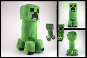 Minecraft - Creeper plushie by eitanya