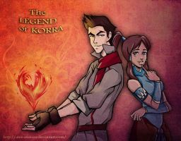 Korra and Mako by Alex-Asakura
