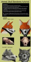 Anthro Skull Bandanna tutorial by SteinWill