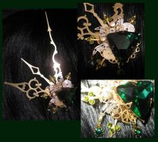 """Absinthe Aether"" hairclip by Space-Invader"