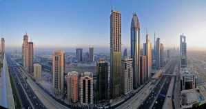 Sheikh Zayed Road Panorama by VerticalDubai