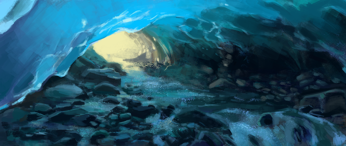 environment practice - ice cave by Yohiri
