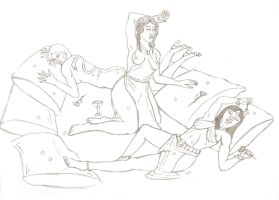 Brides of Dracula Lines by Anararion