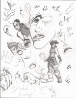 Sketch Dump - Korra Theme by Dreballin3x