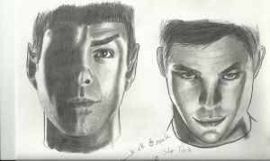 kirk and spock by Pappimaster