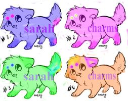 Adoptable cute puppies by sarah-charms