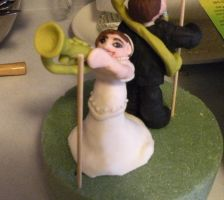 Bride with Trumpet by cake-engineering