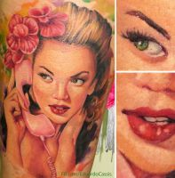 Pin Up Tattoo by eduardocassis