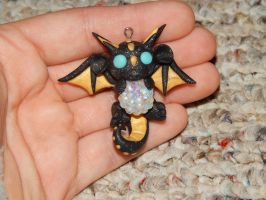 Black and Gold Dragon with Gem by XDtheBEASTXD