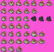 Red Cheep Cheep Sprites by ACFan120