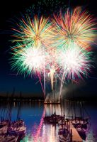 Fireworks in Red Bank by Mjag