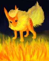 Flareon King of Fire by Zelphaba