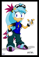 Spark the hedgehog by Domestic-hedgehog