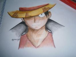 Luffy OnePiece by gimongz