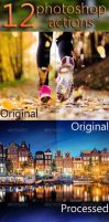 12 Photoshop Actions by floriyon