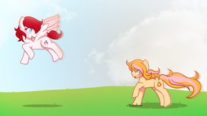 Chase The Wind and Touch The Sky by Rockabell-Neko