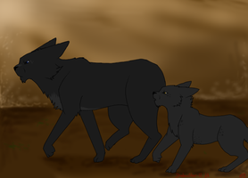 Father and Son~ Crowfeather and Breezepelt by Shadowstar-12