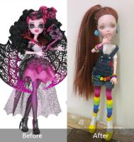 Anna (OOAK MH doll - before after) by Lunai