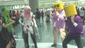 Cosplays from Code Geass, Guilty Crown, and Lego by trivto
