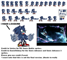 Werehog Sonic sprite sheet 1 by dratinifan13
