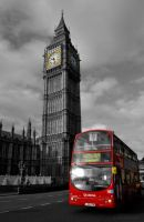 Big Ben and Red Bus by Sayuji