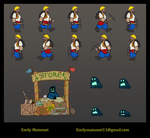 Subterranean Soldiers Sprite Sheet by Mo8