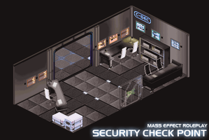 Mass Effect: Security Checkpoint by fang