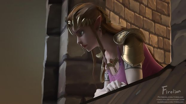 Princess Zelda by Firolian