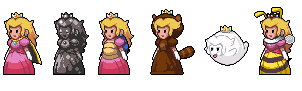 Peach Power-ups by Pokekoks