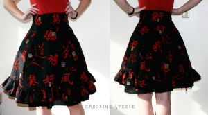 Red black lolita-esque skirt by mirime-duinram