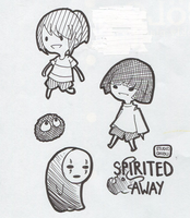 Spirited Away chibis by RaizeKira