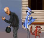 Mordecai and Rigby in troubles by NeroScottKennedy