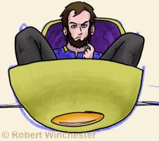 The captain in his chair by Bobert-Rob