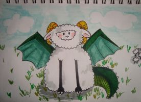 Lonely Dragon sheep :( by db702