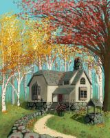 Autumn Cottage by SpecterCody